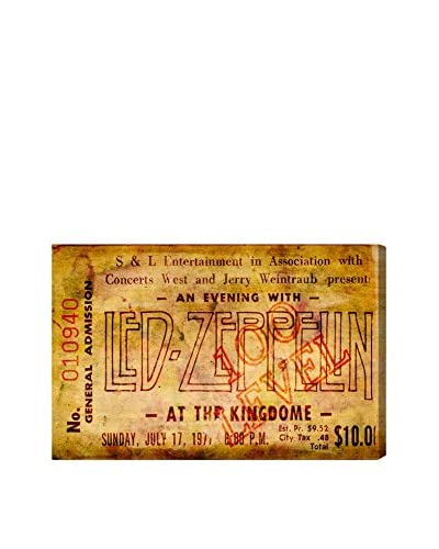 Oliver Gal Led Zeppelin Concert Ticket Canvas Art