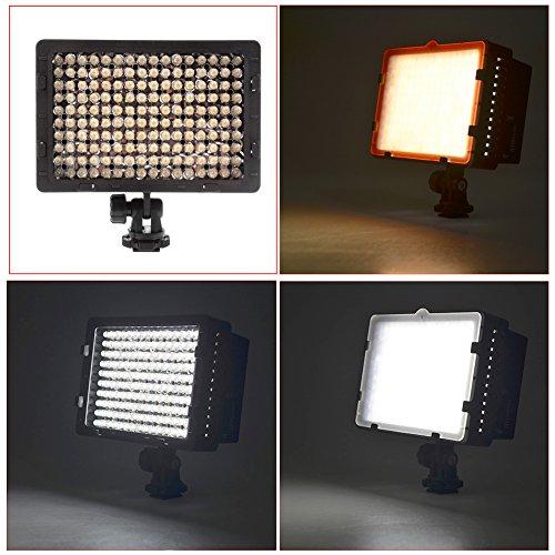 NEEWER CN-160 LED ビデオライト 160球のLEDを搭載 Canon、Nikon、Sigma Olympus、Pentaxなどのカメラ&ビデオカメラに対応