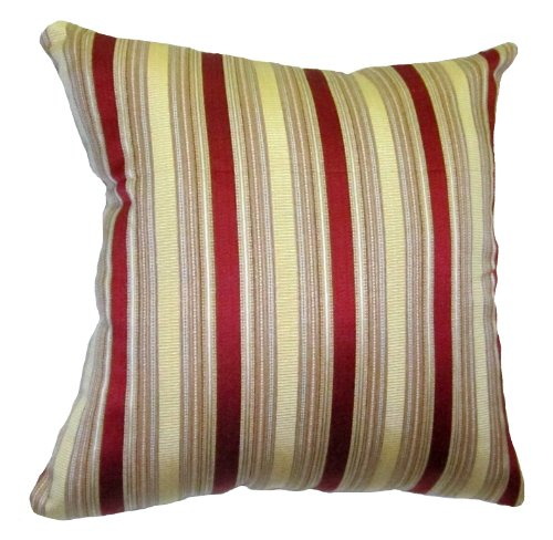 24?24 Burgundy and Gold Stripes Brocade Decorative Throw Pillow Cover : Decorative Pillows