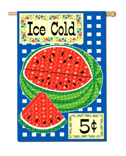 Ice Cold Watermelon Mini Flag