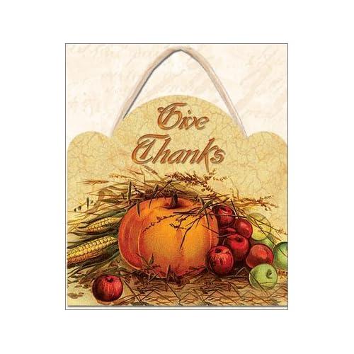 Vintage Look Victorian Thanksgiving Plaque: Home & Kitchen