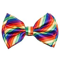 Buckletown Men\'s Adjustable Classic Formal Pre-Tied Bow Tie (Rainbow Pattern)