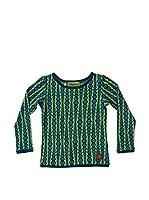 Tranquillo Camiseta Manga Larga Looky (Verde / Azul)
