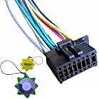 HQRP Car Radio / Head Unit / Stereo 16 pin Wire Wiring Harness Plug for Pionner DEH-150MP / DEH-15MP / DEH-15UB / DEH-2500UI / DEH-4500BT / DEH-80PRS CD Receiver + HQRP UV Meter