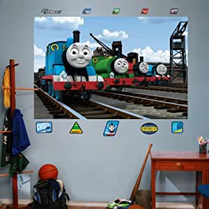 fathead thomas and friends group mural. Black Bedroom Furniture Sets. Home Design Ideas