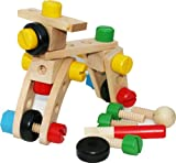 Wooden Nut and Bolt Building Blocks Construction Kit 30 Pieces - PROMOTION OFFER 1 WEEK