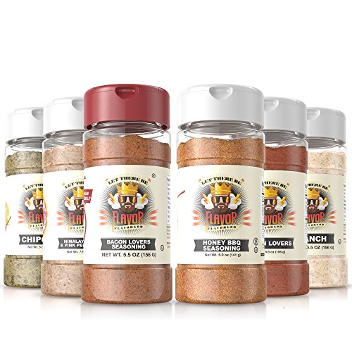 #1 Best-Selling 5Oz. Flavor God Seasonings - Gluten Free, Low Sodium, Paleo, Vegan, No Msg (Summer 6 Pack, 6 Bottles)