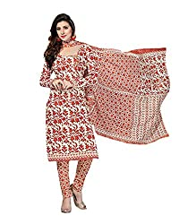 Drapes Women's MulticolorCotton printed Dress Material (Unstitched)