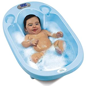 Aqua Scale 3-in-1 Baby Bath Tub, Scale and Water Thermometer, Blue