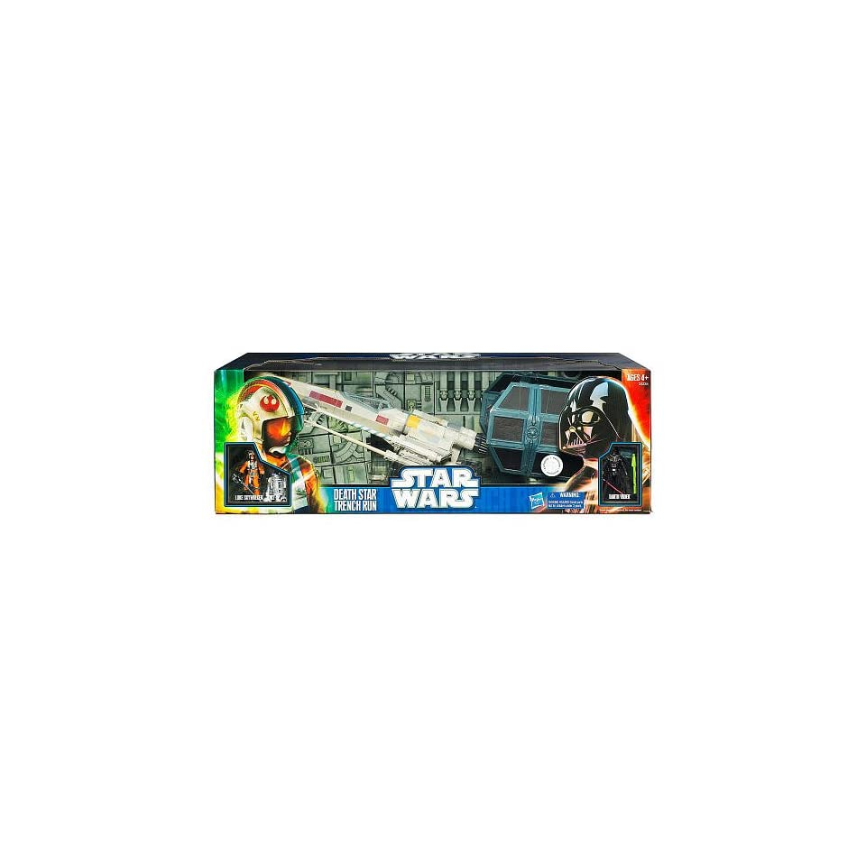 Star Wars 2 Schiff Trench Run Darth Vaders Tie Fighter Luke On