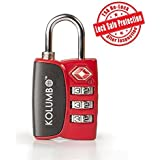 TSA Lock - The Most Trusted TSA Approved Lock For Travel Safety and Security - Lock Alert, Heavy Duty, Assorted Colors - Lock Safe(TM) Protection To Ensure TSA Relock After Inspection - Lifetime Guarantee