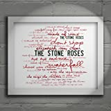 `Zephyr` Art Print - THE STONE ROSES - First Album - Signed & Numbered Limited Edition Typography Wall Art Print - Song Lyrics Mini Poster