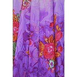 Triveni Chiffon Fabrics (TSFP11_Purple)