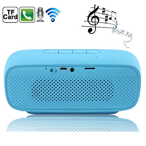 Boriyuan New Ultra-Portable Mini Mic TF Card Slot Hands-free Stereo Wireless Bluetooth Speaker Beats 4.0 With Built-in Rechargeable Battery Compatible for iPhone 3 3G 3S 4 4S 5 5C 5S 6 iPhone 6 Plus, iPad 2 3 4 5 Air Mini, Samsung Galaxy S5 I9600/ S4 I9500/ S4 Mini/ Note 2 N7100/ Note 3 N9000/ Note 4/ Mega 6.3 I9200, LG G2/ G3/ G Flex/ G Pro 2, Sony Xperia Z L36h/ Z1S/ Z2, Motorola Moto G/ X, Blackberry Z10/ Z30, HTC One M7/ Max/ M8, Nokia Lumia 920 520 1020 1520, Google Nexus and All Bluetooth-enabled Mobile Phones, Mp3 MP4 Players, Tablets, PC and Laptops etc (Blue)