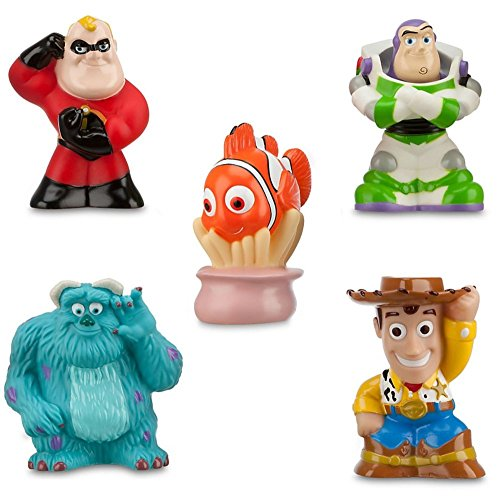 Disney Pixar Toy Story The Incredibles Finding Nemo Theme Park Exclusive Bath Toy Set