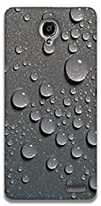 The Racoon Lean Raindrops hard plastic printed back case / cover for Alcatel Onetouch Idol X 6040D