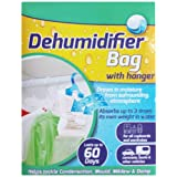 AMOS Hanging Wardrobe Dehumidifier Bag Sachet with Hanger House Home Office Car Boat Caravan Interior Cupboard Closet Damp Mould Mildew Moisture Condensation Remover Absorber Trap Air Freshener (1)