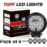 """Tuff LED Lights 4 X 4"""" Inch Round 27watt LED Work Lamp Light 2150 Lumen, Off Road, Atv, Utv, Polaris Ranger"""