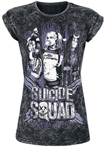 Suicide Squad In Squad We Trust Maglia donna grigio scuro S