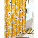 S ZONE Printed Sunflower Pattern, Mildew Proof Polyester Fabric Shower Curtain 72x72 Inch