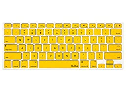 Kuzy - YELLOW Keyboard Cover Silicone Skin for MacBook Pro 13\