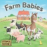 Farm Babies: A Stencil Book (Board Book)