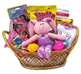 Girls Pretty in Pink Ballerina Bunny Fun Easter Gift Basket