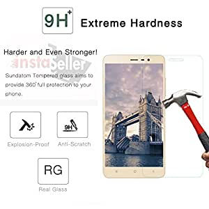 Insta Seller Branded Perfect Fitting 2.5D Crystal Clear 9H Ultra Thin Curve Edge Tempered Glass Screen Protector For Redmi Note 3