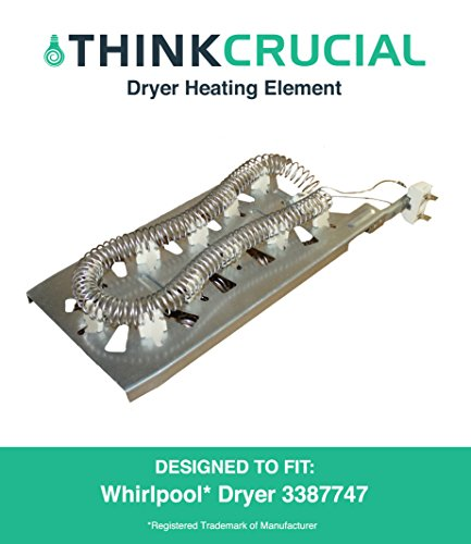 High Quality Dryer Heating Element, Fits Amana, KitchenAid and Maytag Dryers, Part 3387747, 8527865, AP2947033 and PS344597, by Think Crucial (Heating Element For Amana Dryer compare prices)