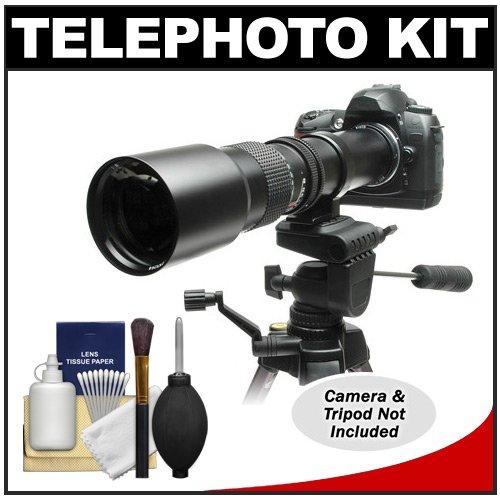 Rokinon 500Mm F/8 Telephoto Lens With 2X Teleconverter (=1000Mm) For Panasonic / Olympus E-5, E-30, Evolt E-420, E-520, E-620 Digital Slr Cameras