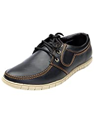 Guardian Black Synthetic Leather Casual Shoes For Men