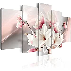 impression sur toile 100x50 cm 5 parties image sur toile images photo tableau fleurs. Black Bedroom Furniture Sets. Home Design Ideas