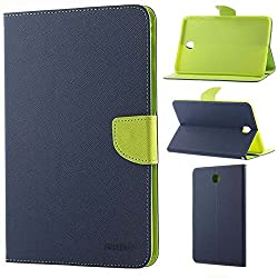 Moca(Tm) Mercury Folding Flip Folio Pu Leather With 4 Card Slot Stand Case Cover For Samsung Galaxy Tab E 9.6 T560 T561 Android Tablet Case