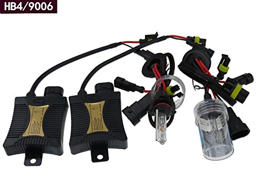 Gbb 55W Hid Xenon Light 6000K Automotive Headlight Spot Lamp Conversion Kit For 9006