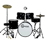 Full Size Complete Adult Drum Set with DVD Earplugs Cymbals Stool Sticks and Stands