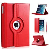 DN-TECHNOLOGY® RED PU Leather Case for Apple Ipad Air With Stylus