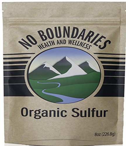 No Boundaries Health and Wellness MSM Organic Sulfur Supplement - Premium 99.9% Pure. No Fillers, Additives, Allergens, GMOs. Made in USA - World's purest, Fast dissolving, Great Antioxidant Defense (Crystal Tomato Supplement compare prices)