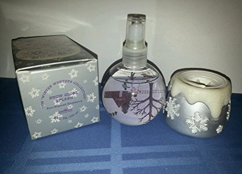 Bath Body Works 1998 Winter Wonders Collection Sun Ripened Raspberry Snow Globe Splash Home
