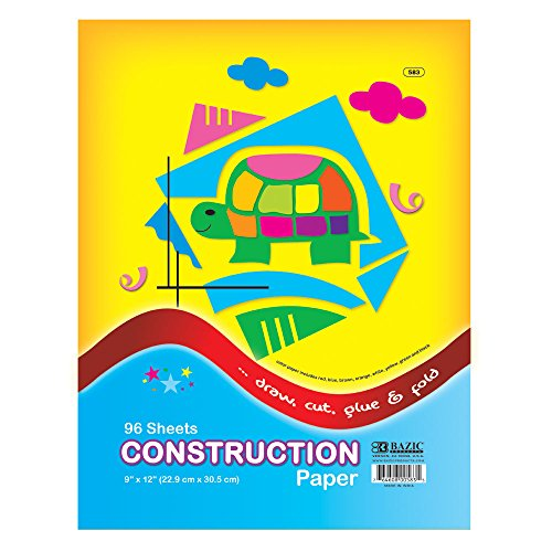 "BAZIC 96 Ct. 9"" X 12"" Construction Paper - 1"