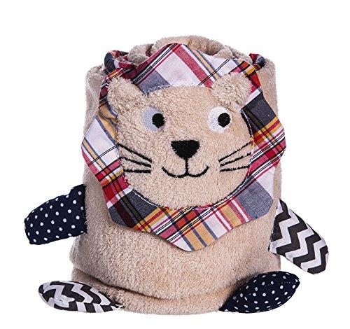 Tan Lion Rolled Blanket