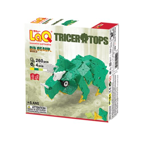 LaQ Dinosaur World Triceratops Figure Model Building Kits