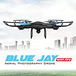 U45 Blue Jay WiFi FPV Quadcopter Drone w/ HD Camera, Altitude Hold, and Live Video Plus Remote Control   For Aerial Photography, Easy to Fly for Expert Pilots & Beginners   Great Gift Idea by Force1RC from UDIRC