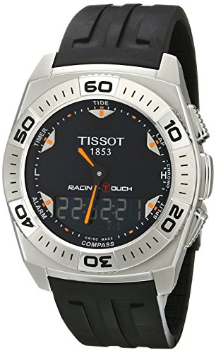 Tissot Mens T002.520.17.051.02 Black Dial Racing Touch Watch<br />