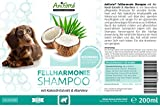 Aniforte Fellharmonie Shampoo mit Kokosöl-Extrakt & Aloe Vera 200ml Hundeshampoo Kokos-Shampoo - Naturprodukt für Hunde -