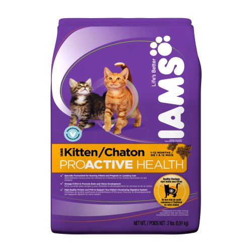 See IAMS Kitten Proactive Health Dry Cat Food, 2-Pound Bags (Pack of 8)