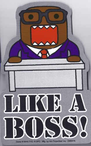 Domo-kun Car Magnet Like a Boss Business Suit