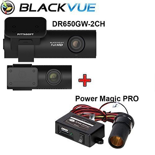 Blackvue DR650GW-2CH Built-In Wi-Fi Full HD Car DVR Recorder, 64Gb With Power Magic Pro - Black