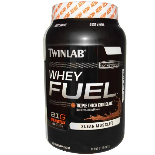 Twinlab Whey Fuel Lean Muscle 21g. Real Protein (Triple Thick Chocolate, 2 Lb.)