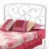 Amisco Serpentine Twin Size Headboard/Footboard only, Snow Picture