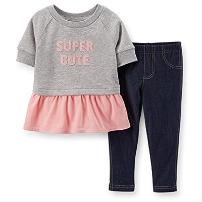 Carters Baby Girls' Layered Sweater Legging Set